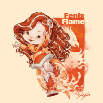 07- FENIX FLAME- S/S - PREMIUM TEE - SOFT CREAM Design