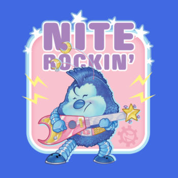 NITE ROCKIN - S/S - PREMIUM TEE - TRUE ROYAL Design