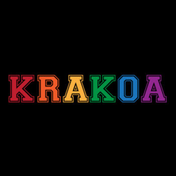 KRAKOA PRIDE - S/S - ¾ BASEBALL TEE - BLACK/RED Design
