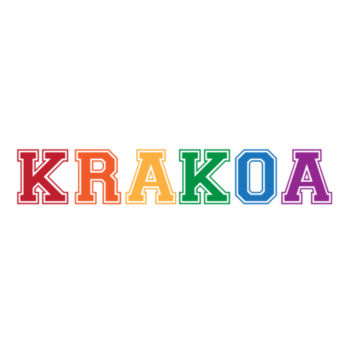 KRAKOA PRIDE - S/S - ¾ BASEBALL TEE - WHITE/RED Design