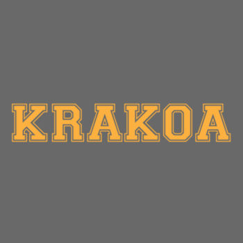 KRAKOA GOLD - S/S - PREMIUM TEE - CHARCOAL HEATHER Design