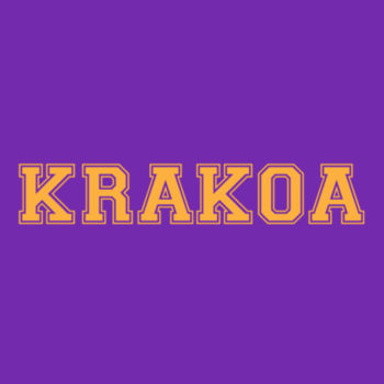 KRAKOA GOLD - S/S - PREMIUM TEE - PURPLE Design