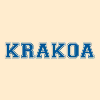 KRAKOA BLUE - S/S - PREMIUM TEE - SOFT CREAM Design