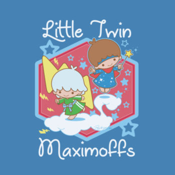 LITTLE TWINS - S/S - PREMIUM TEE - STEEL BLUE Design