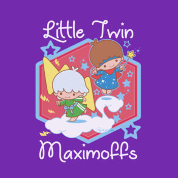 LITTLE TWINS - S/S - PREMIUM TEE - PURPLE Design