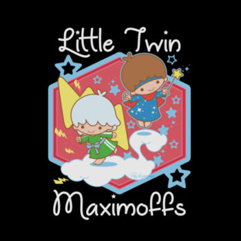 LITTLE TWINS - S/S - PREMIUM TEE - BLACK Design