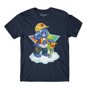 HARD HAT BEAR - S/S - PREMIUM TEE - NAVY Thumbnail