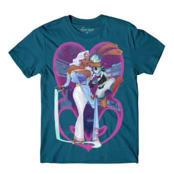 PRINCESS AND PILOT - S/S - PREMIUM TEE - DEEP TEAL Thumbnail