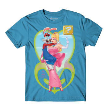 POWER UP PRINCESS -S/S - PREMIUM TEE - AQUA Thumbnail