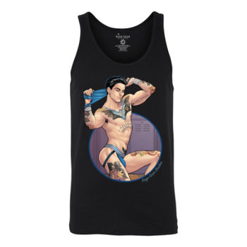 NIGHT DICK - S/S - TANK TOP - BLACK Thumbnail