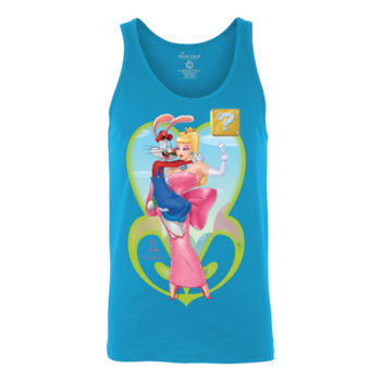 POWER UP PRINCESS - S/S - TANK TOP - NEON BLUE Thumbnail