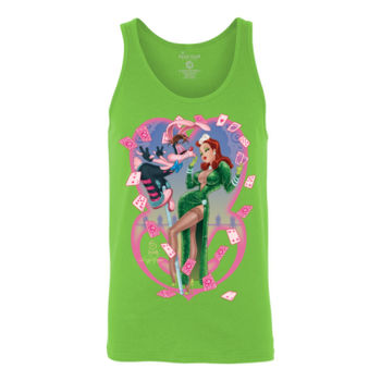 HEART THIEVES - S/S - TANK TOP - NEON GREEN Thumbnail