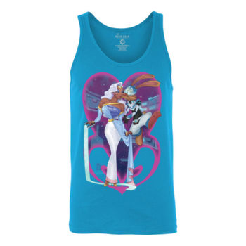 PRINCESS AND PILOT - S/S - TANK TOP - NEON BLUE Thumbnail