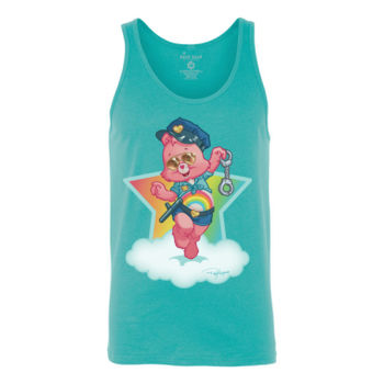 OFFICER CHEER - S/S - TANK TOP - TEAL Thumbnail