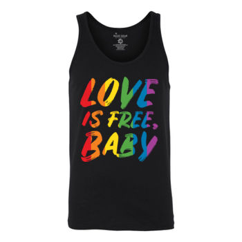 LOVE IS FREE - S/S - TANK TOP - BLACK Thumbnail